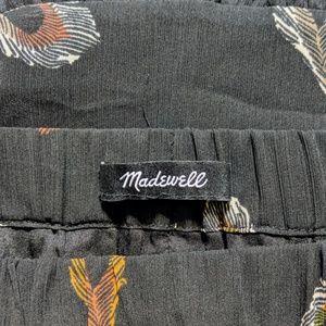 Madewell Skirts - Madewell ▪ Feather Print Ruffled Edge Skirt